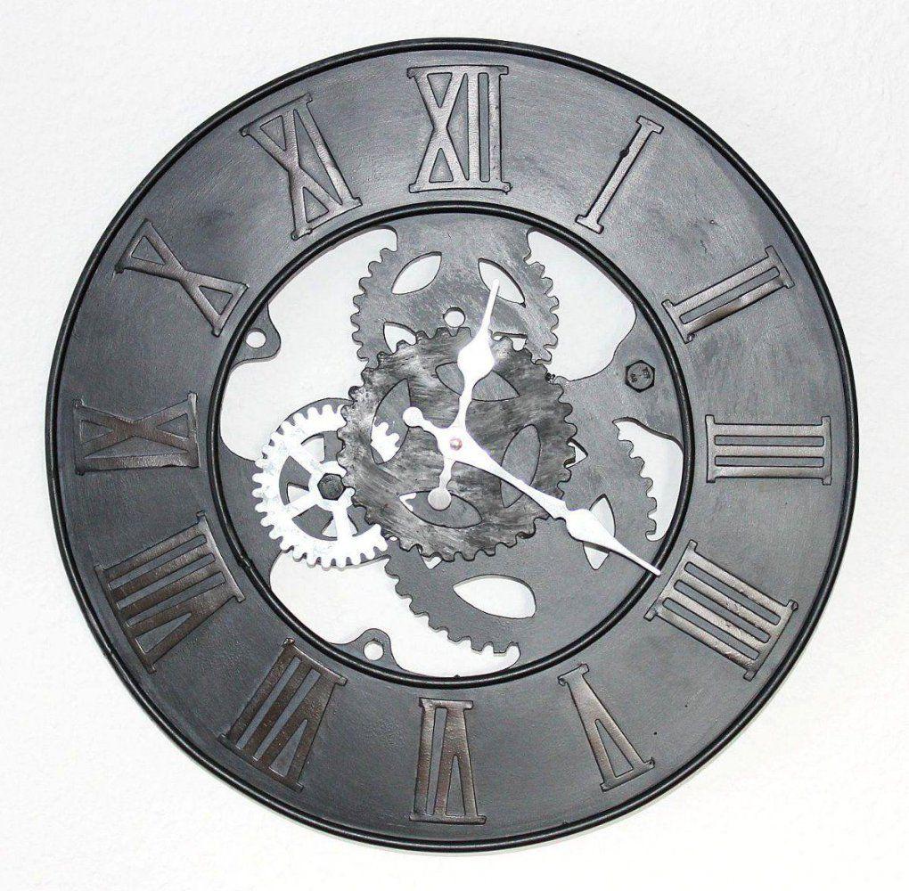 Wanduhr Zahnrad Uhr Loft Aus Metall 84605 D39 Cm Designuhr Vintage von Wanduhr Xxl Metall Vintage Bild