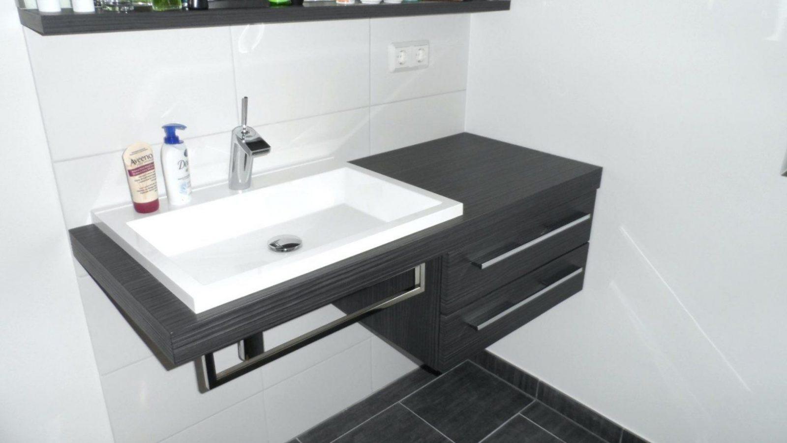 Waschbecken Unterschrank Modern Badezimmer Linie Bad Waschtisch Avec von Moderne Waschtische Mit ...