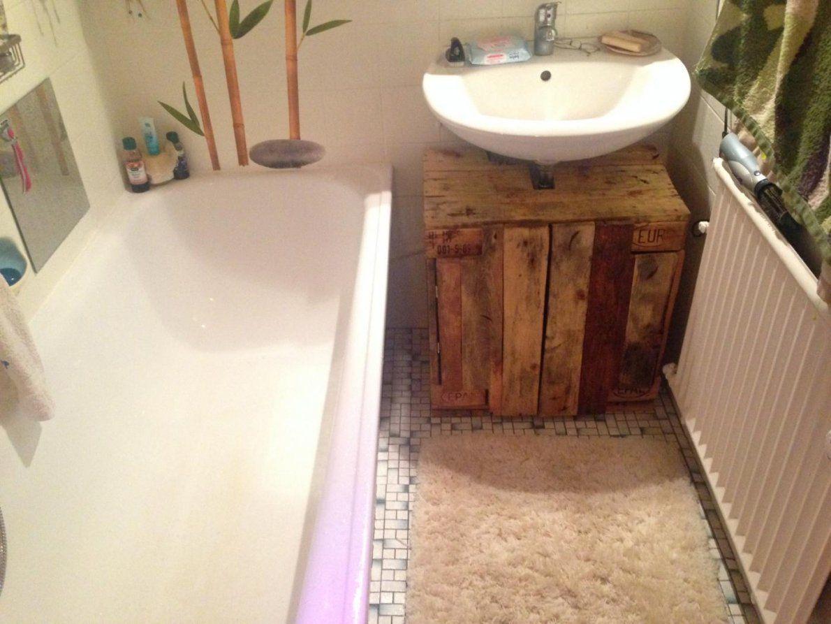 Waschbeckenunterschrank Aus Paletten Selber Bauen  Gispatcher von Bad Unterschrank Selber Bauen Photo