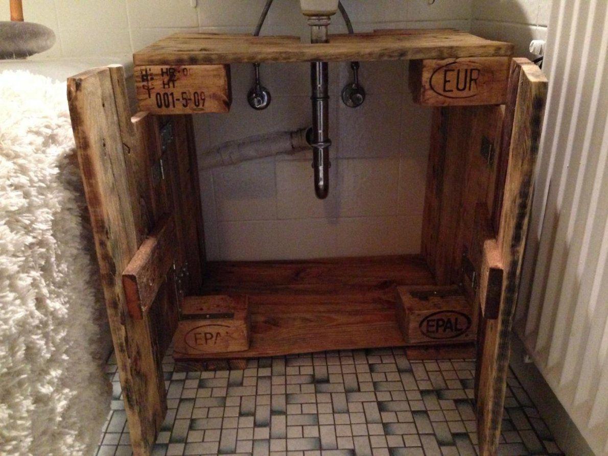 Waschbeckenunterschrank Aus Paletten Selber Bauen  Gispatcher von Unterschrank Für Aufsatzwaschbecken Selber Bauen Photo