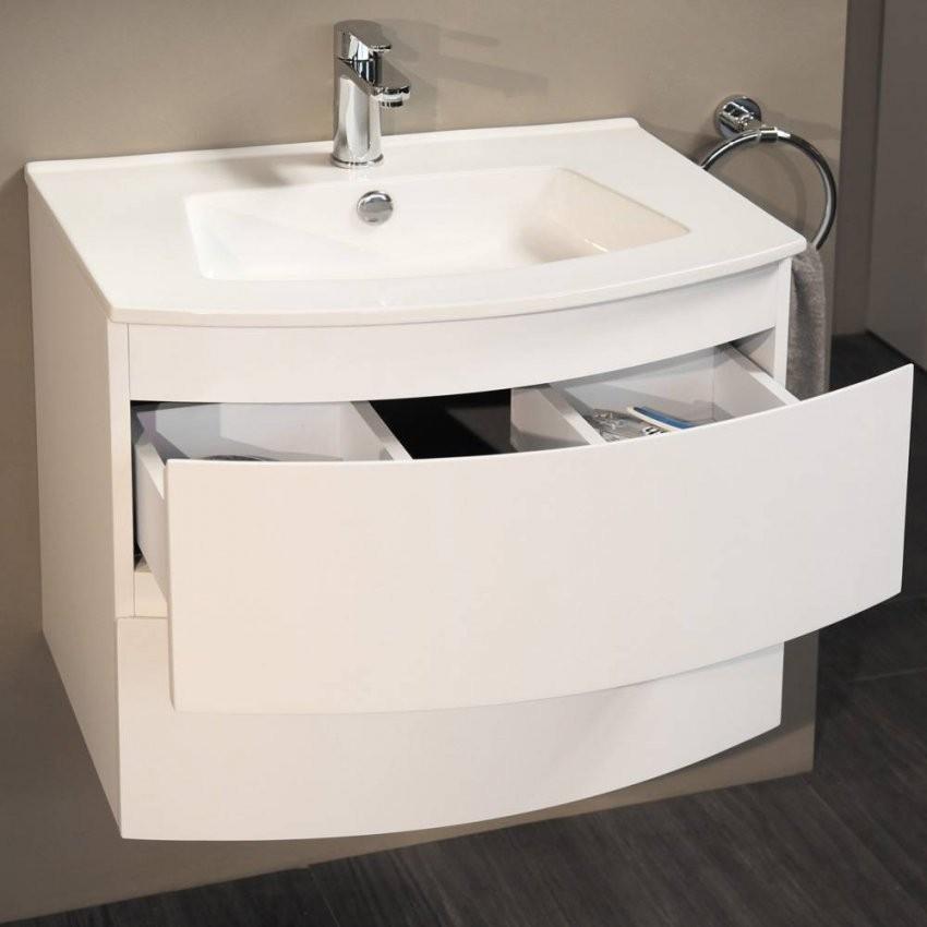 Waschbeckenunterschrank Mit Waschbecken Cm Breit Weis Farbe Jasmin von Waschtisch Mit Unterschrank 70 Cm Breit Bild