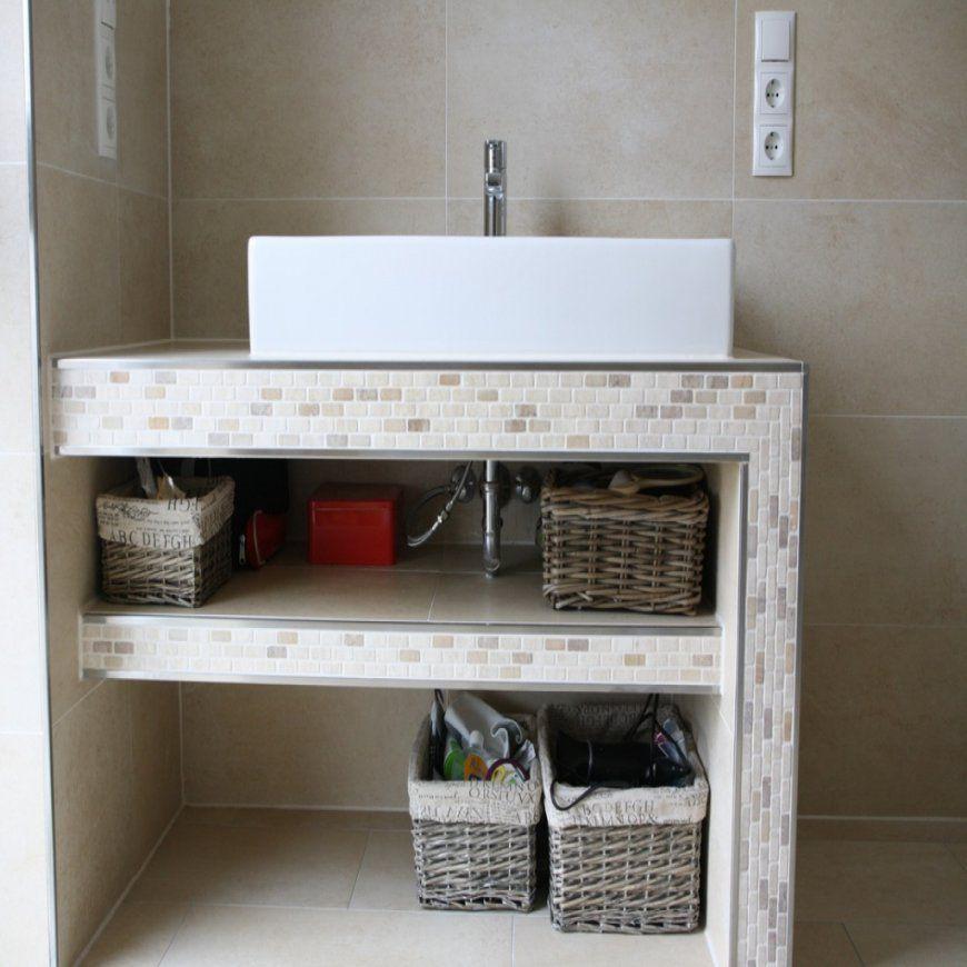 Waschtisch Selber Bauen Arbeitsplatte Intended For Cozy von Bad Unterschrank Selber Bauen Photo
