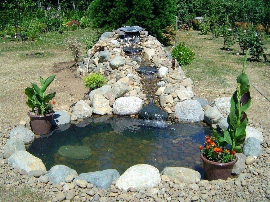 Wasserfall Gartenteich Full Size Of Geraumiges Ideen Von Kleinen Wasserfall  Selber Bauen Bild