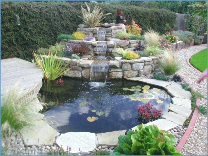 Wasserfall Gartenteich Gartengestaltung Fur Bauanleitung Teich von Kleinen Wasserfall Selber Bauen Photo