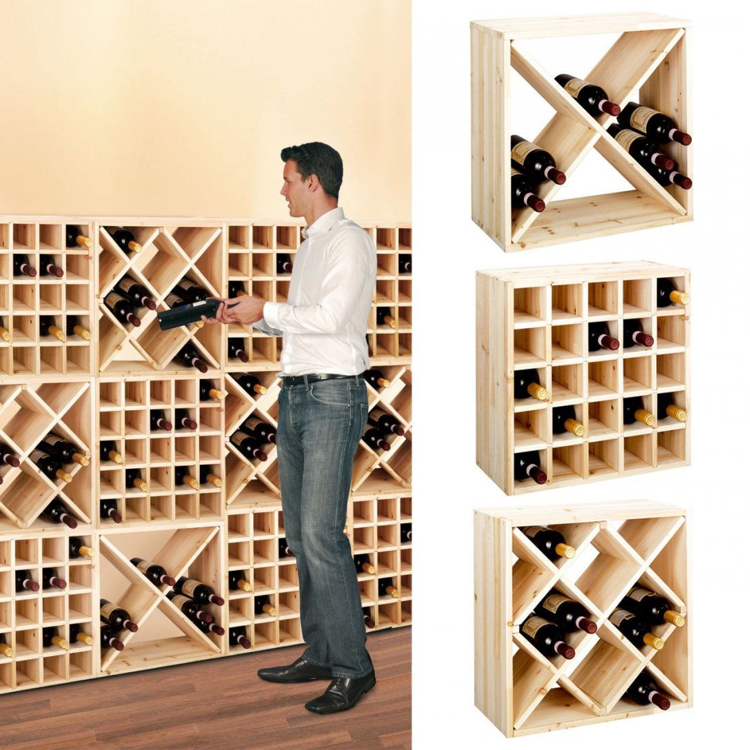 Weinregal  Möbel  Einebinsenweisheit von Weinregal Holz Dänisches Bettenlager Bild