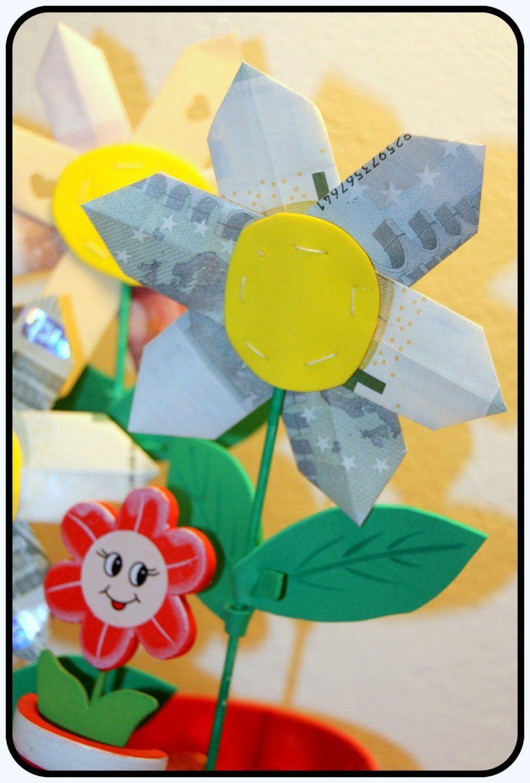 Werklstube Geldgeschenk Blumen Im Topf Von Geldgeschenk Blume Im