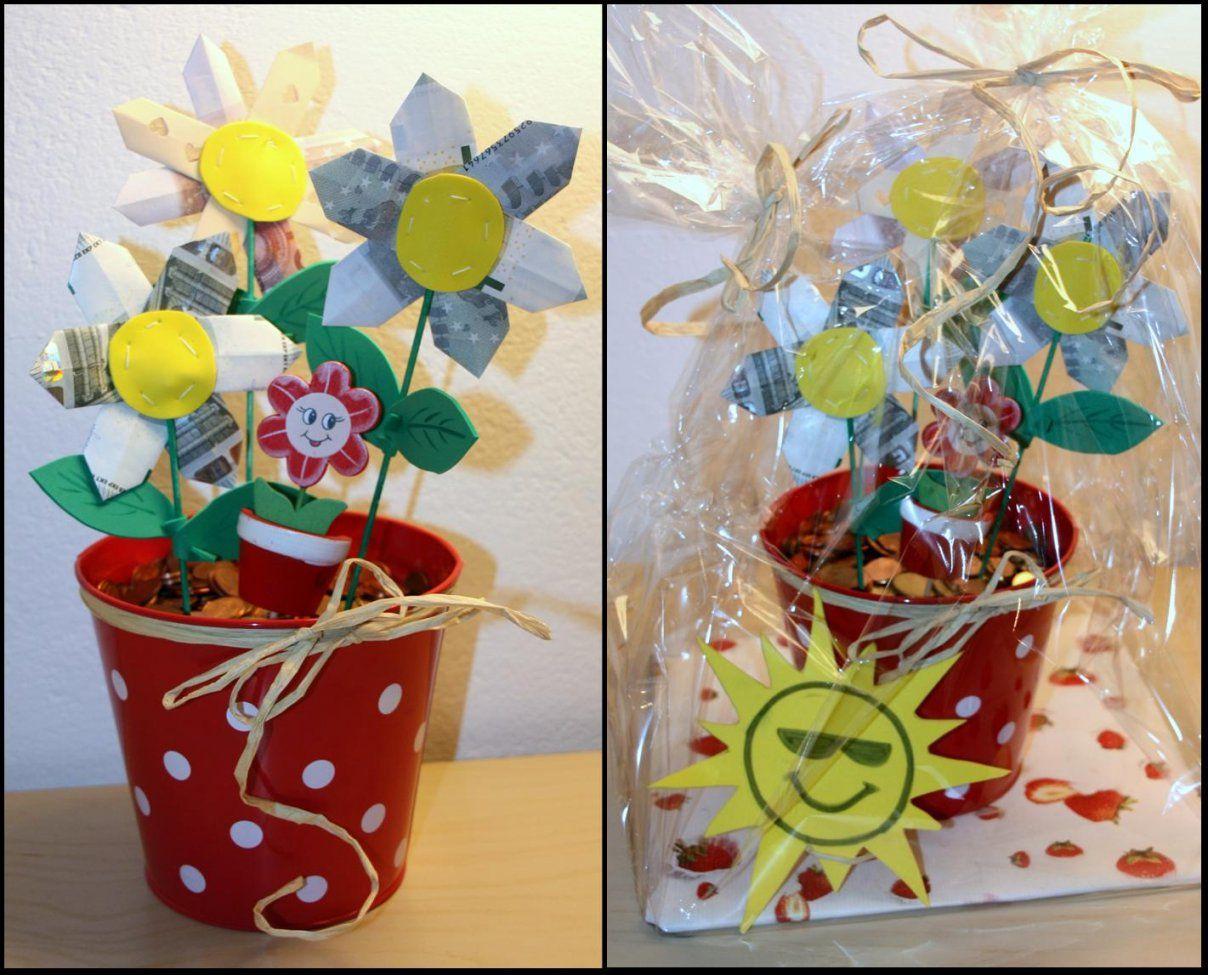 Werklstube Geldgeschenk  Blumen Im Topf von Geldgeschenk Blume Im Topf Photo
