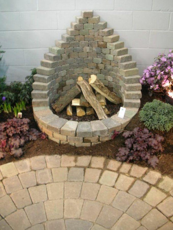 Wie Können Sie Eine Feuerstelle Bauen  60 Fotobeispiele von Feuerstelle Im Garten Bauen Bild