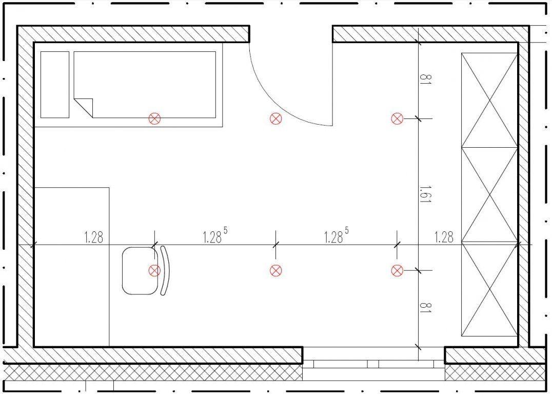 Wieviel Einbaustrahler Pro Quadratmeter von Abstand Led Spots Decke Bild