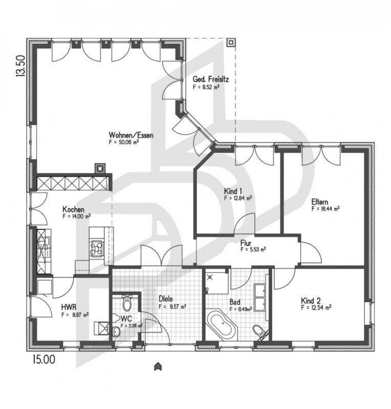 Winkelbungalow Mit Garage Grundrisse Innenarchitektur Schönes von Grundriss Bungalow L Form Bild