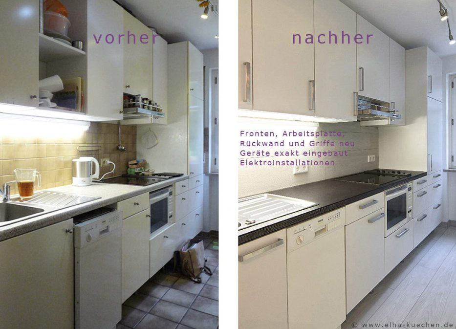 Wir Renovieren Ihre Küche  Küchenrenovierung  Vorher  Nachher von Küche Neu Gestalten Vorher Nachher Bild