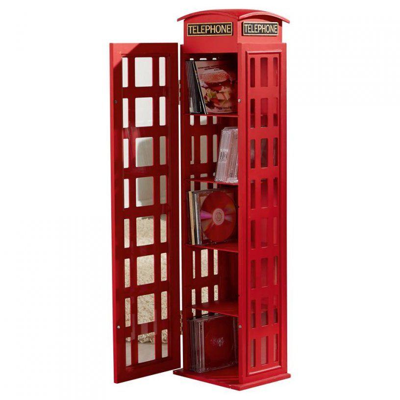 Witziges Cdregal & Cdvitrine In Form Einer Telefonzelle In Rot von Cd Schrank 1000 Cds Photo