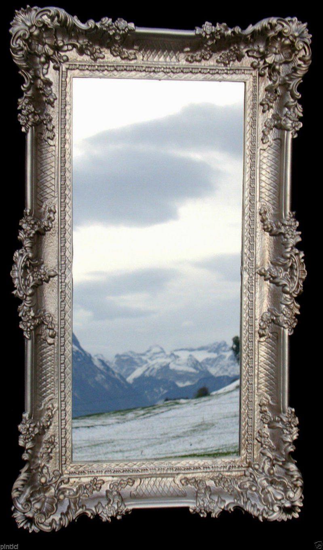 Wohnkultur Barock Spiegel Silber Groß Tolle Gros Gross Rahmen 41660 von Barock Spiegel Silber Groß Photo
