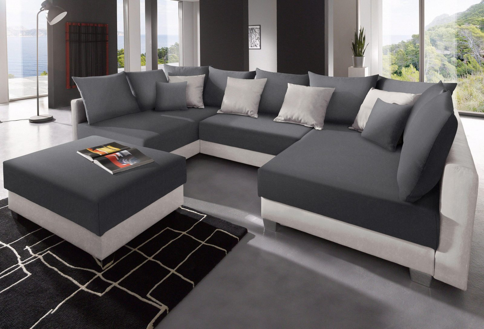 L sofa xxl 7 wohnlandschaft matera xxl u form design couch for Couch u form klein
