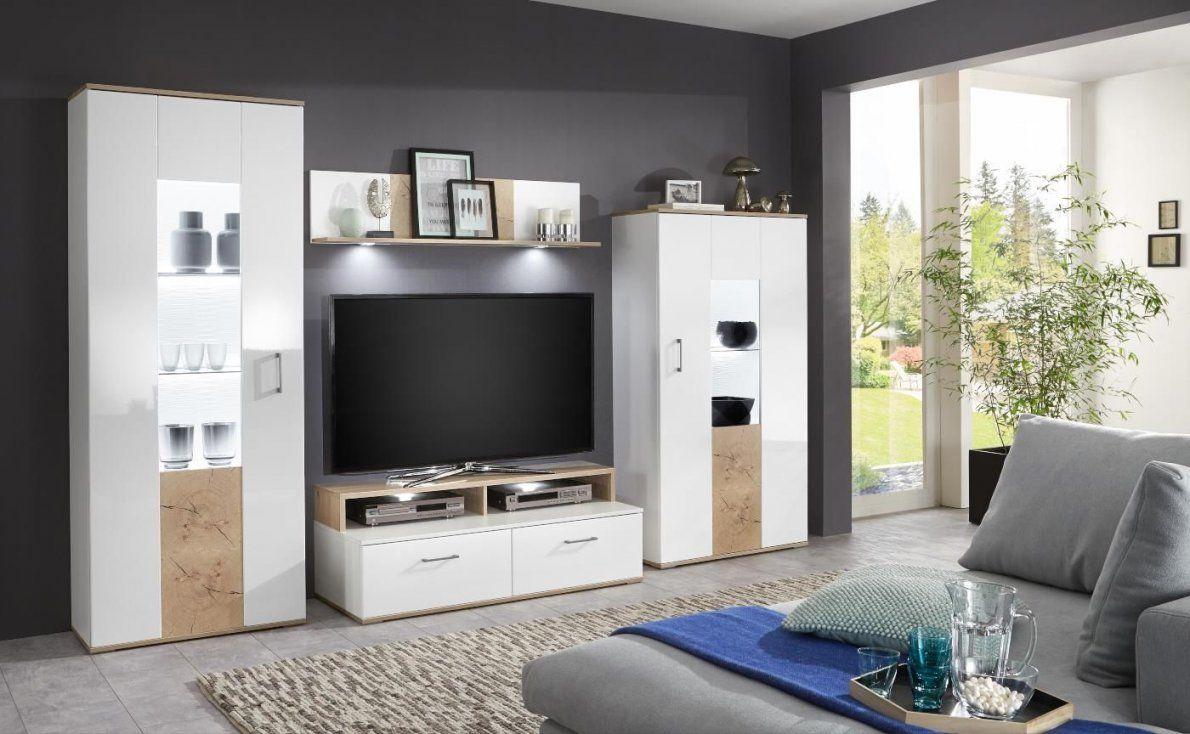Wohnwand Anbauwand Schrankwand Weiss Hochglanz Mit Hirnholz Optik von Wohnwand Weiß Hochglanz Holz Bild