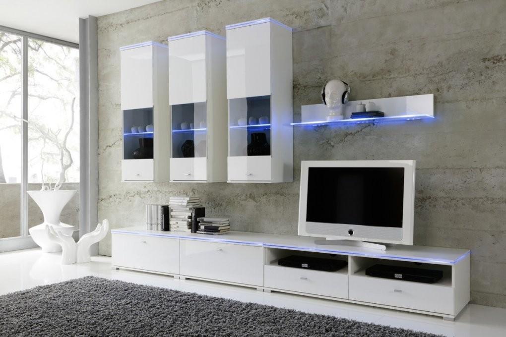 Wohnwand New York Anbauwand Weiß Fronten Hochglanzoptional Led von Designer Wohnwand Weiß Hochglanz Photo