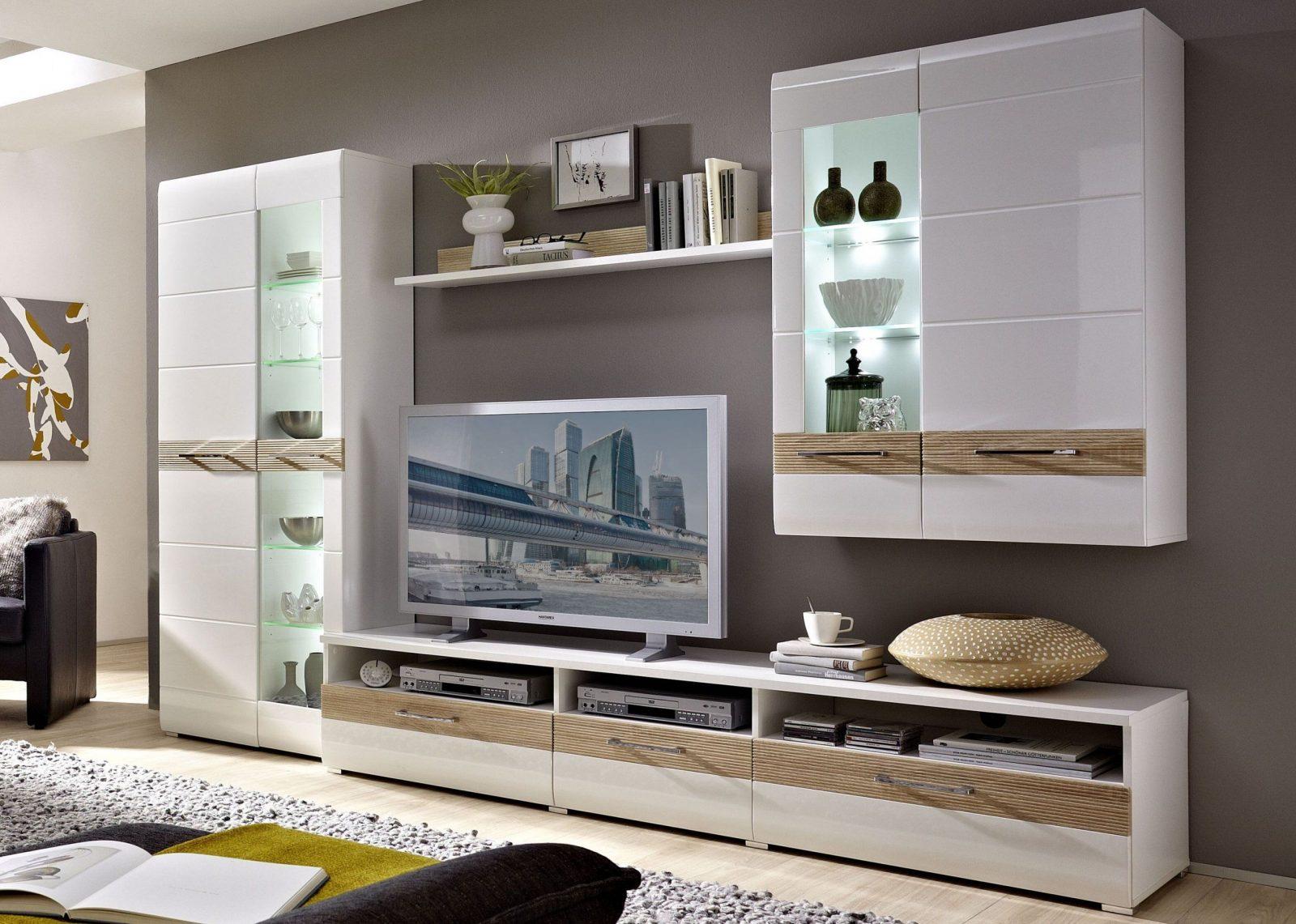 Wohnwand Weiß Hochglanz Holz Herrlich Wohnzimmer Mit Cm Breite von Wohnwand Weiß Hochglanz Holz Bild