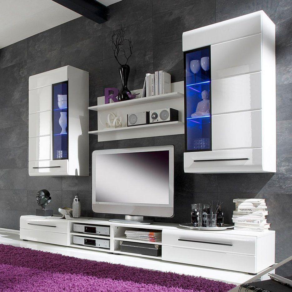 Wohnwand Weiß Schwarz Hochglanz  Harzite Durchgehend Teppich von Wohnwand Weiß Schwarz Hochglanz Bild