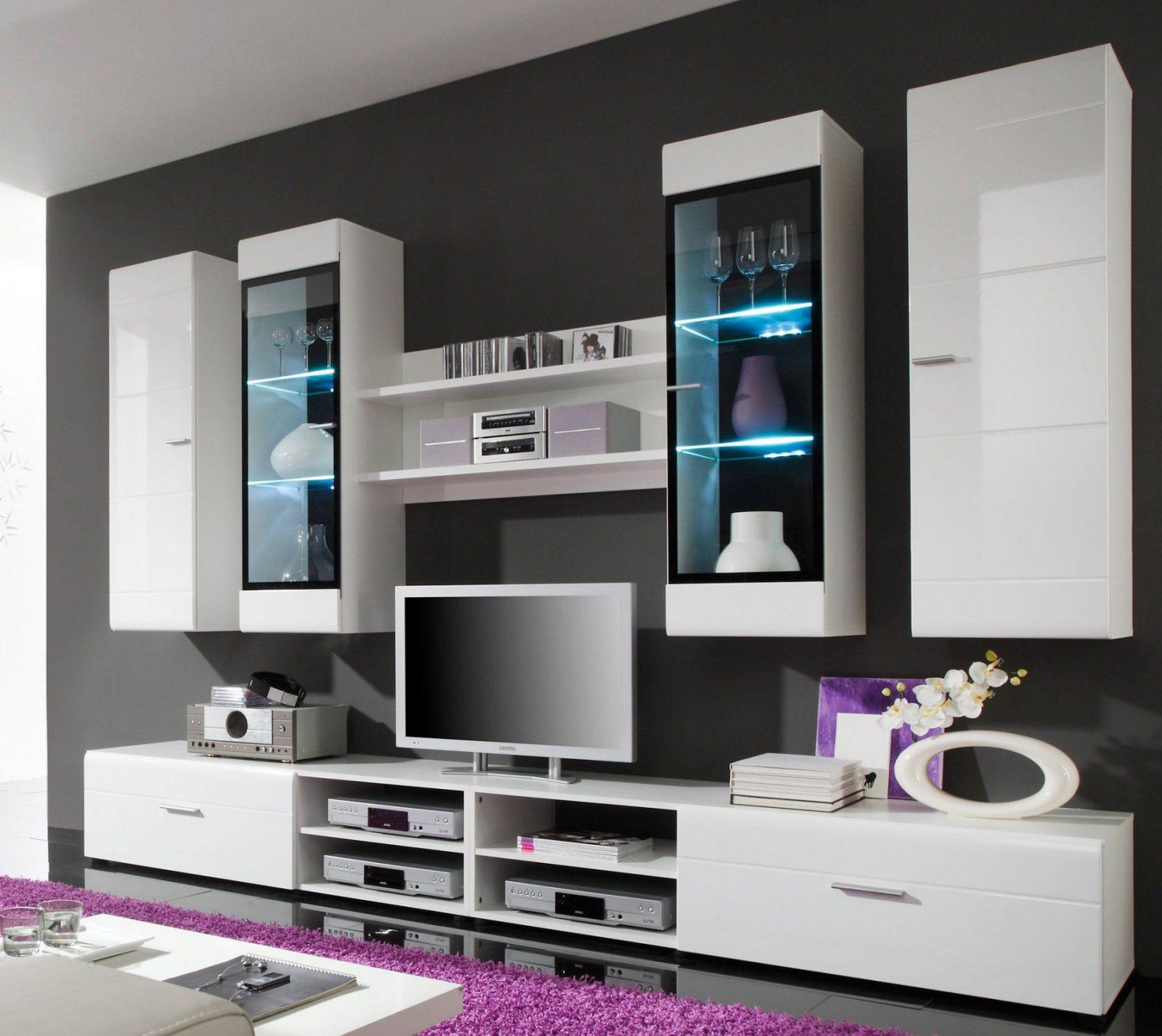 Wohnwand Weiß Schwarz Hochglanz von Wohnwand Weiß Schwarz Hochglanz Bild
