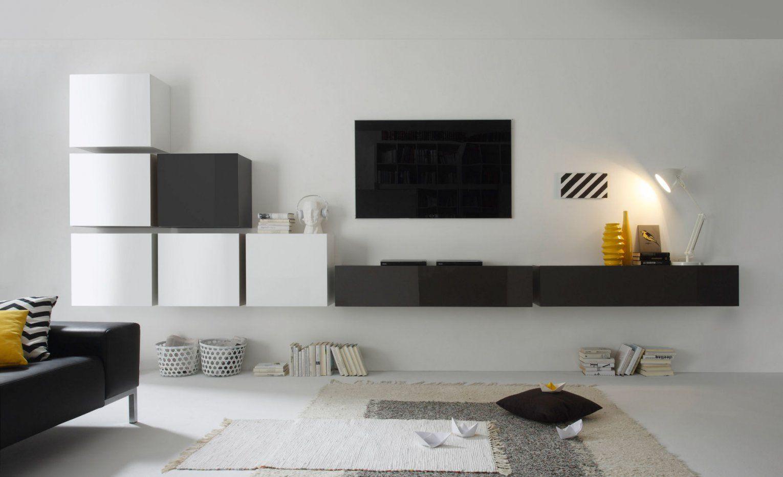 Wohnwände Und Schrankwände Hochglanz Lack Aus Italien Zu Günstigen von Designer Wohnwand Weiß Hochglanz Photo