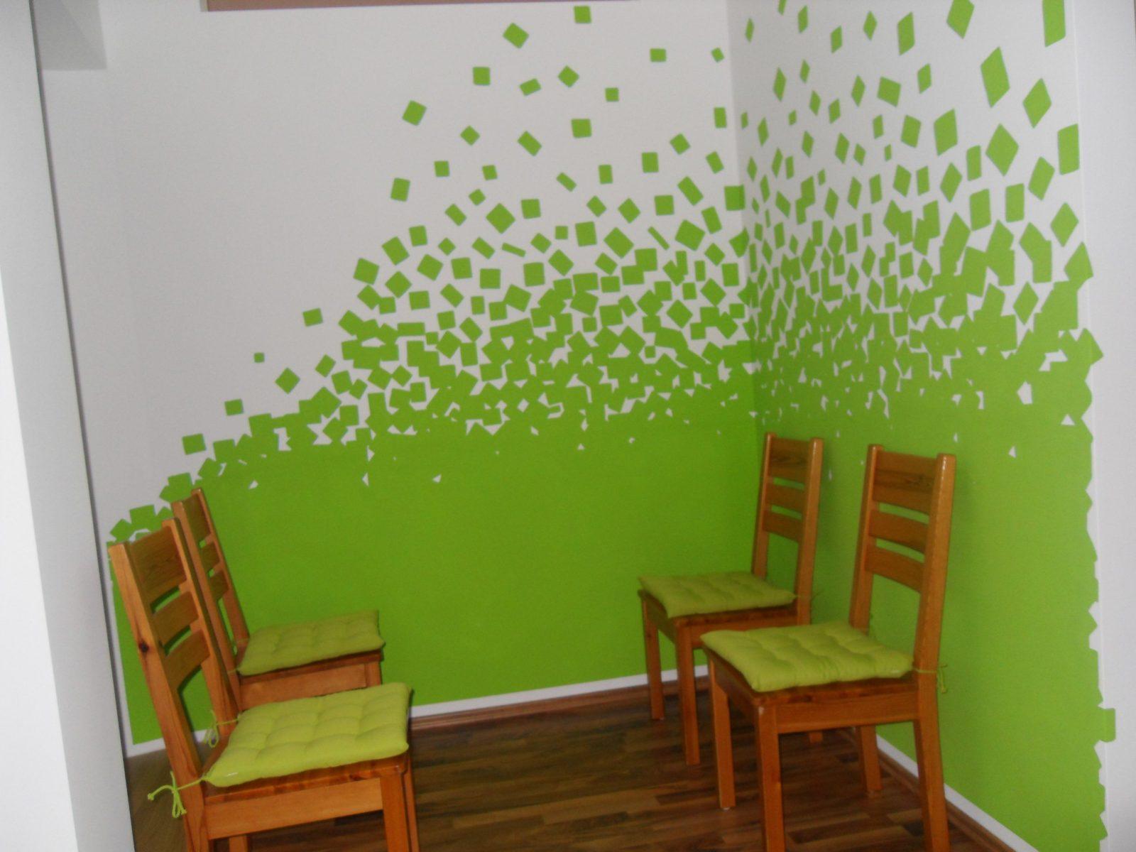 Wohnzimmer Ideen Wand Streichen Grau von Wand Grün Streichen Ideen Photo