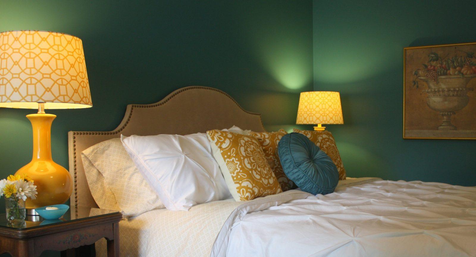 Wohnzimmer Ideen Wand Streichen Wandfarbe Grün Und Gelbe von Wand ...