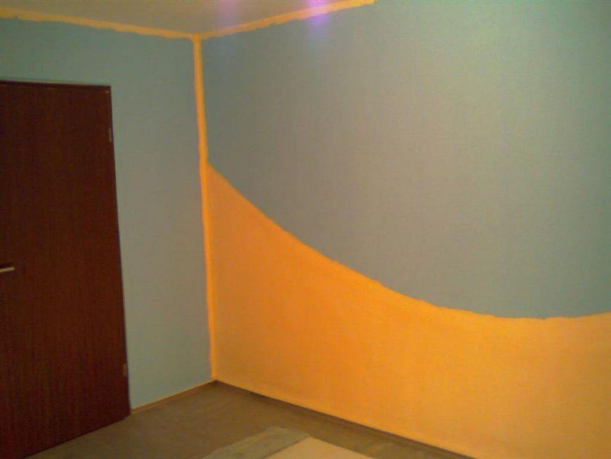 Wohnzimmer Orange Grun  Ocaccept von Wand Grün Streichen Ideen Photo