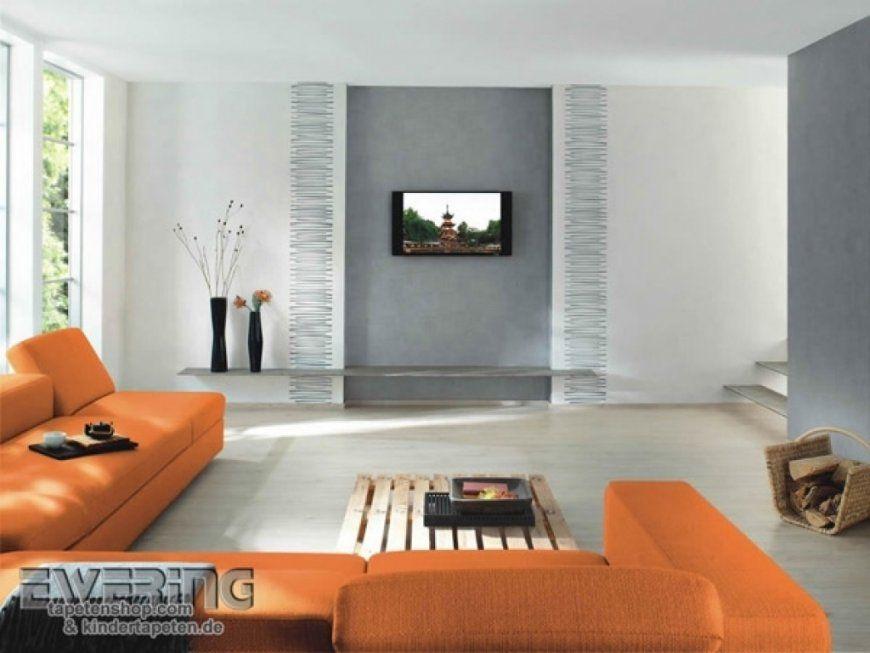 Wohnzimmer Tapete Gestaltung Und Ideen Do Tapeten Finde Komfortabel Von Wohnzimmer  Tapeten Ideen Modern Photo