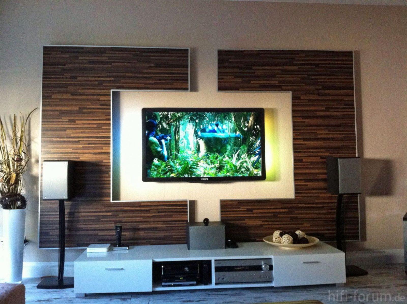 Wohnzimmer Tv Wand Selber Bauen Wohnwand Front Doityourself Von Hinter Fernseher Gestalten Bild