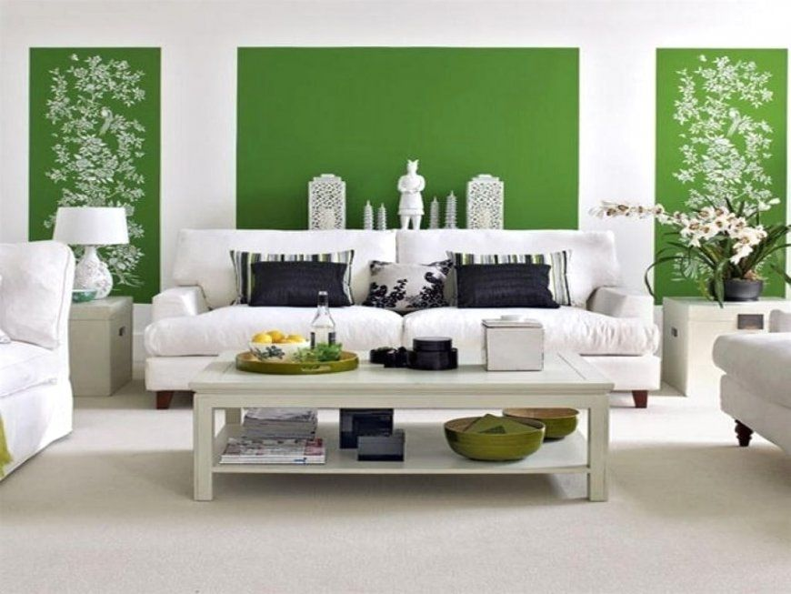 Wohnzimmerwand Ideen Grün Ansprechend Auf Dekoideen Fur Ihr Zuhause von Wand Grün Streichen Ideen Photo