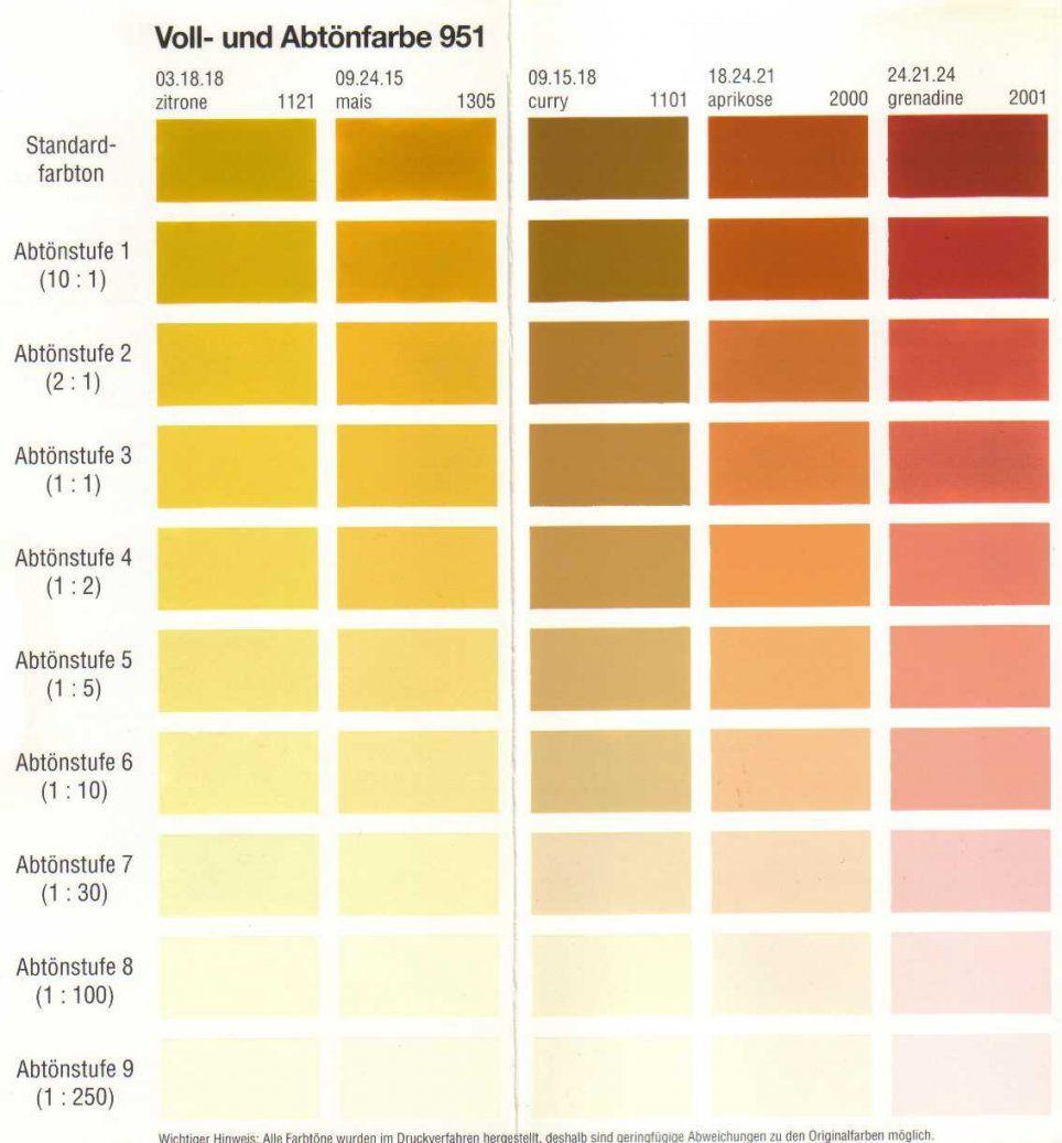Wunderbar Wandfarben Tabelle Ral Farben Wohnideen Pinterest von Ral Farben Mischen Tabelle Photo