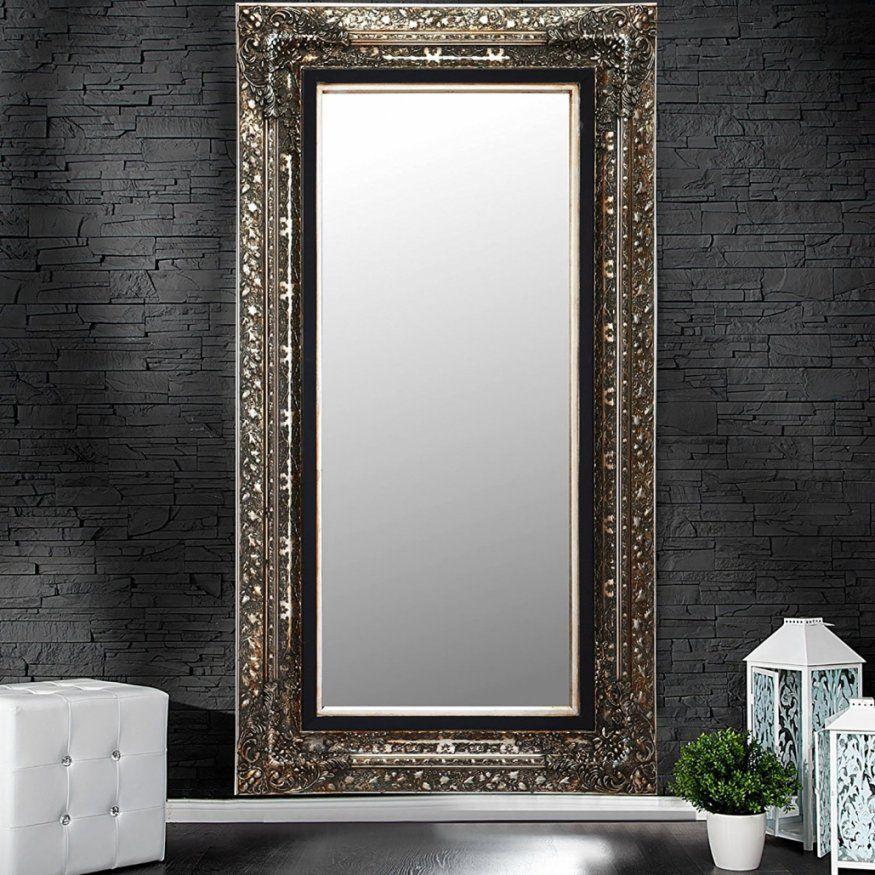 Wunderbar Wandspiegel Groß Silber Wandspiegel Silber Oval Modern Mit von Barock Spiegel Silber Groß Bild