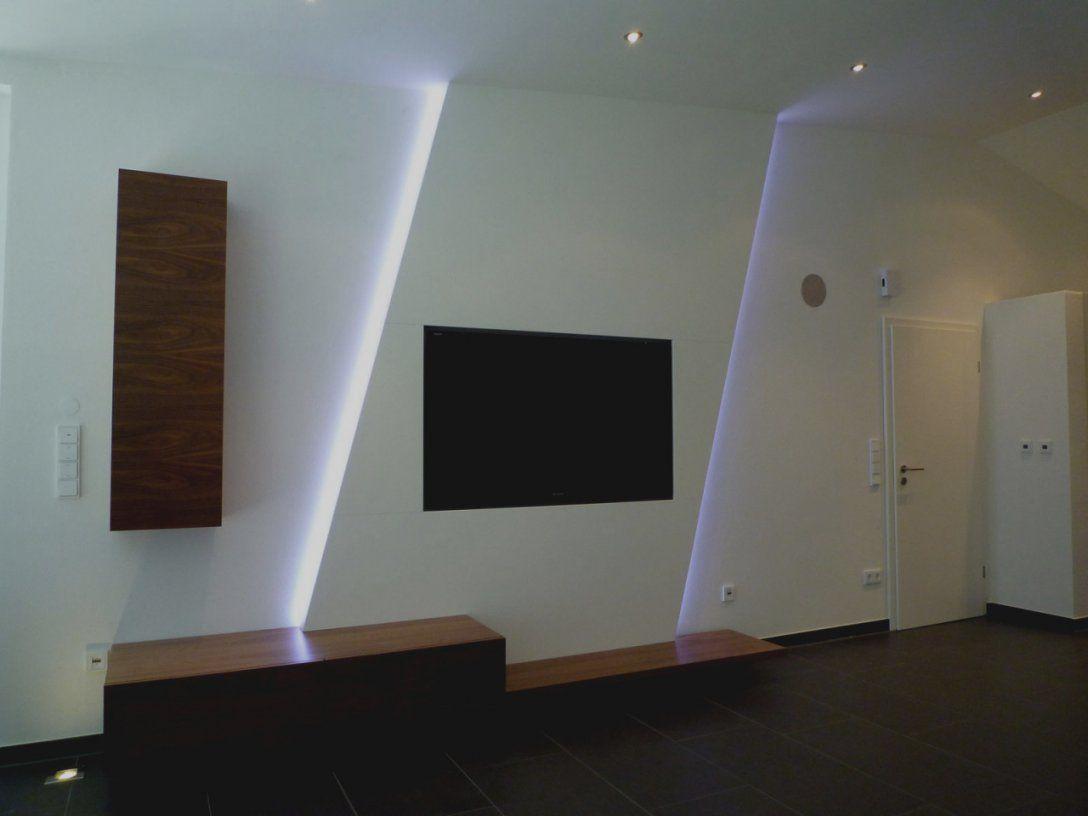 Wunderbare Tv Wand Selber Bauen Rigips Innenausbau Design Multimedia von Fernseher Wand Selber Bauen Bild