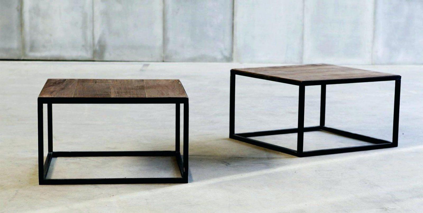 Wunderschone Couchtisch Stahl Holz Wohnzimmertisch Rund Metall von Tisch Mit Metallgestell Und Holzplatte Bild