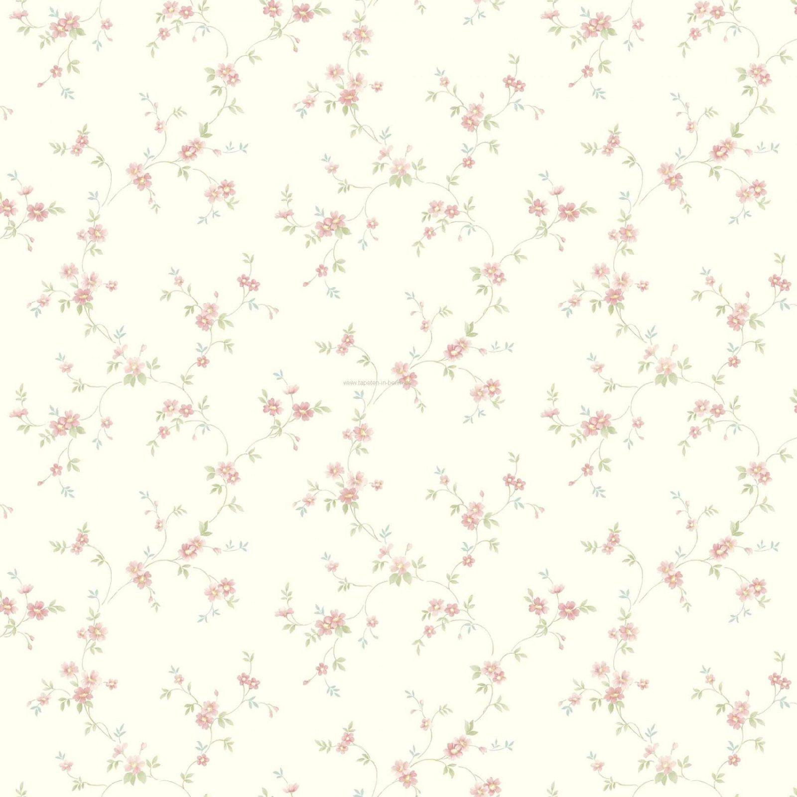 Wunderschöne Inspiration Tapete Blümchen Landhausstil Und Brillant von Tapete Landhaus Floral Blümchen Bild