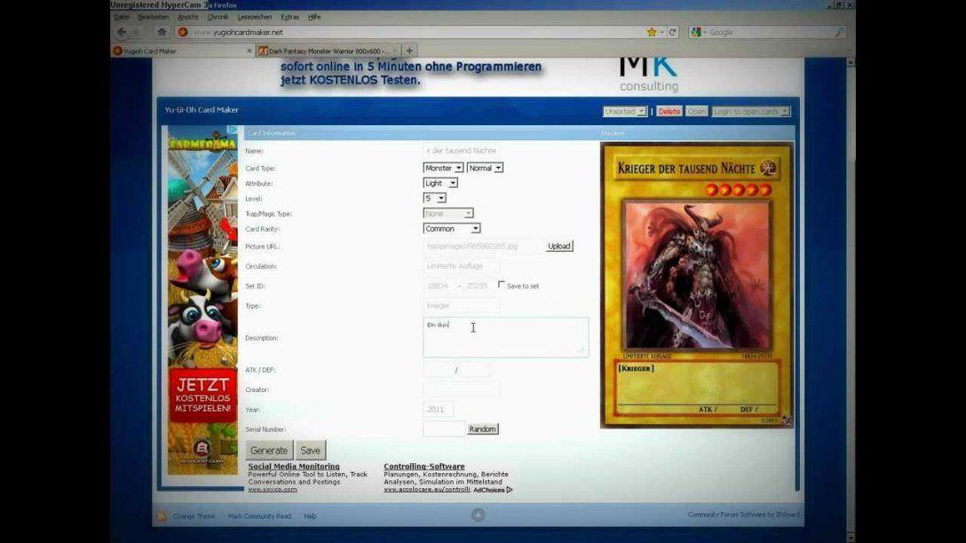 Yugioh Karten Selber Machen  Youtube von Yugioh Karten Selber Machen Photo