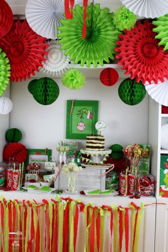 Zauberhaft Party Deko Ideentenparty Selbermachen Geburtstag Grinch von Party Deko Selber Machen Bild