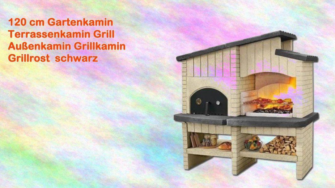 120 Cm Gartenkamin Terrassenkamin Grill Außenkamin Grillkamin von Gartenkamin Grill Selber Bauen Bild