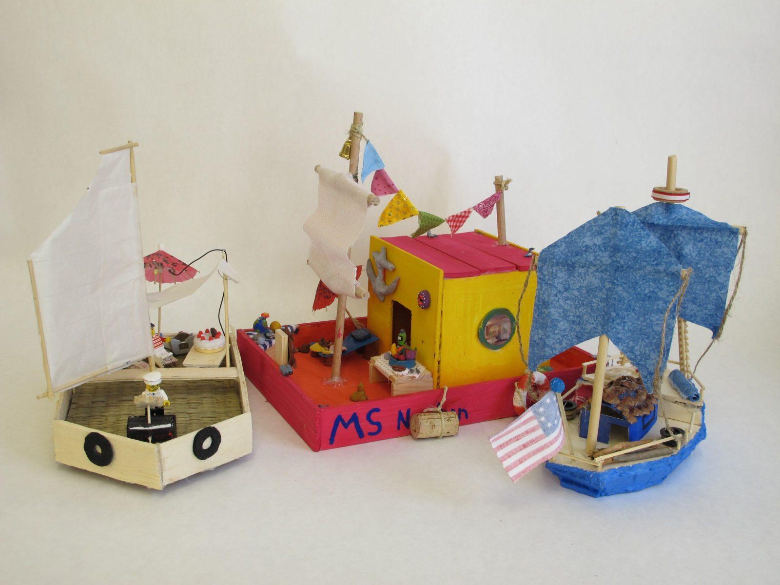 16Kinderakademie  Bianca Hitzler  5 Sommerakademie Landsberglech von Boote Basteln Mit Kindern Bild