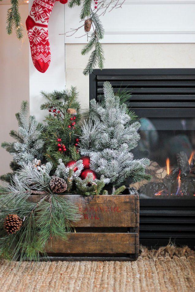 18 Traumhafte Ideen Wie Sie Den Hauseingang Weihnachtlich Dekorieren von Deko Ideen Für Hauseingang Bild