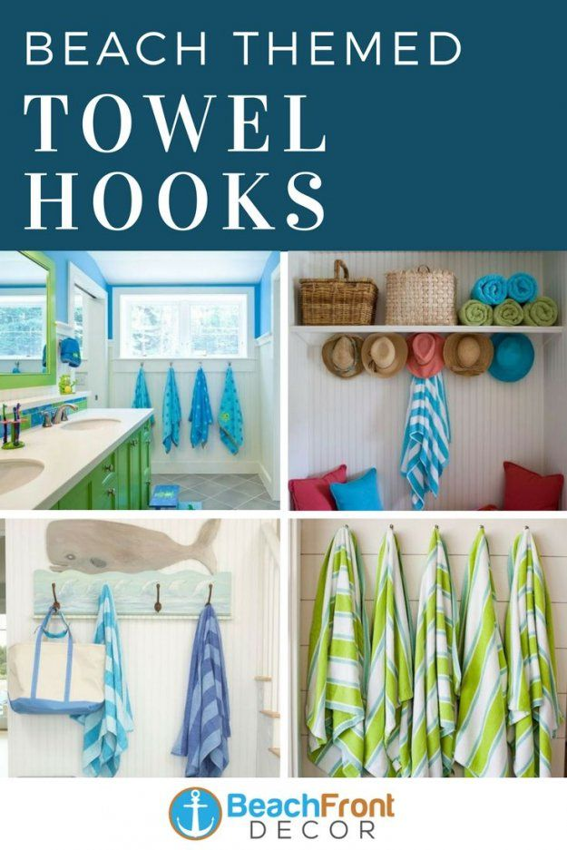 185 Best Beach Wall Hooks Images On Pinterest von Beach Themed Towel Hooks Bild