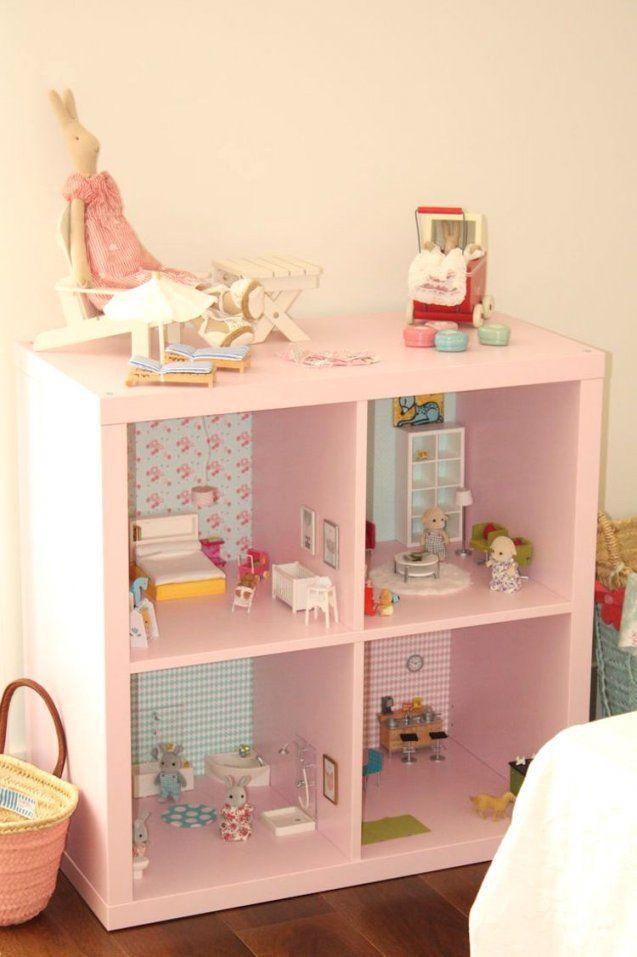 2 In 1 Puppenhaus Selber Bauen Ikea Regale Umfunktionieren Avec von Möbel Für Puppenhaus Selber Basteln Photo