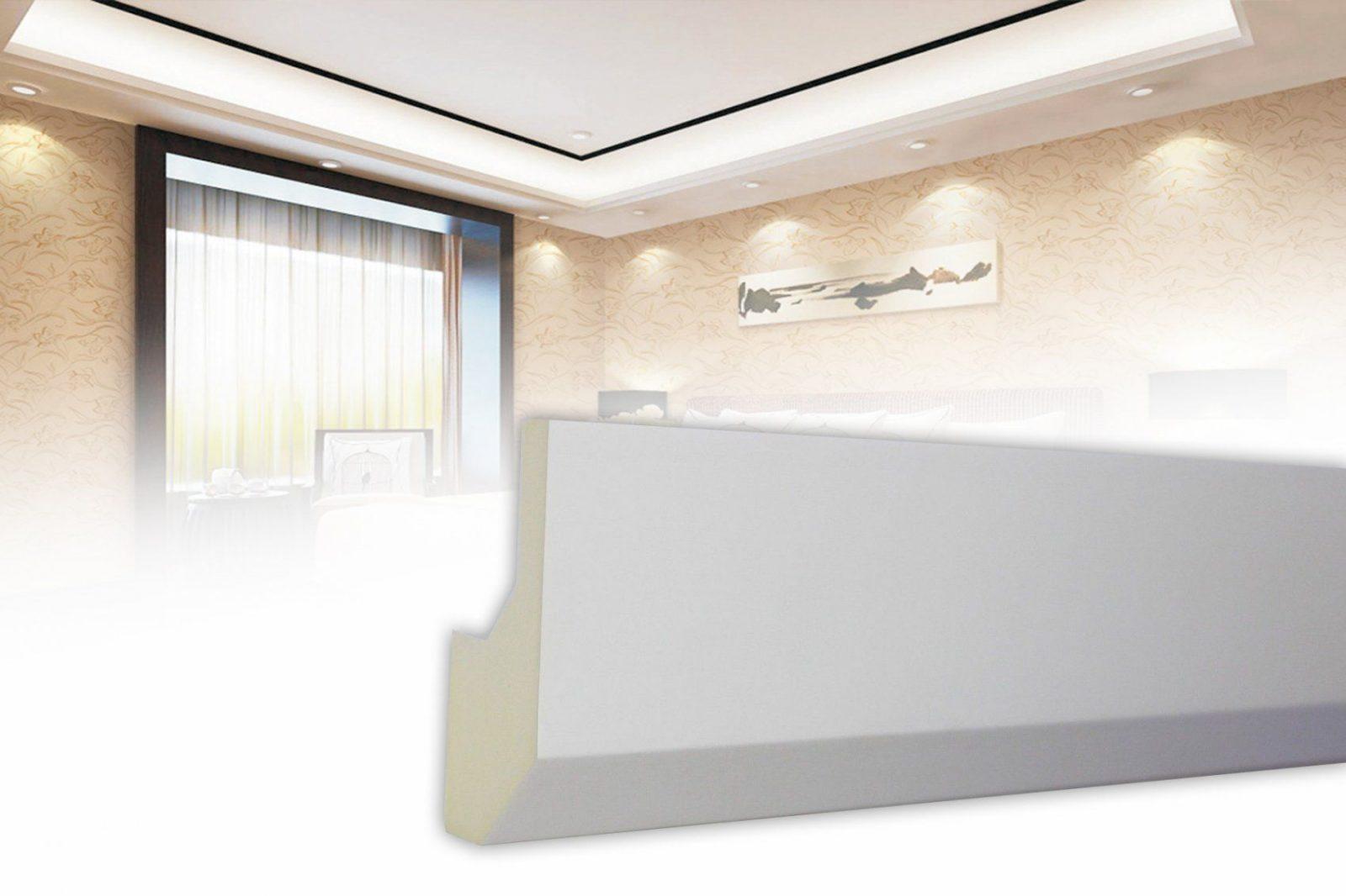 2 Meter Led Profil Pu Stuckleiste Für Indirekte Beleuchtung von Stuckleiste Für Indirekte Beleuchtung Bild