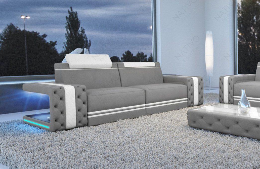 2 Sitzer Imperial Stoffsofa  Nativo Möbel Onlineshop Deutschland von Couch Mit Led Beleuchtung Bild