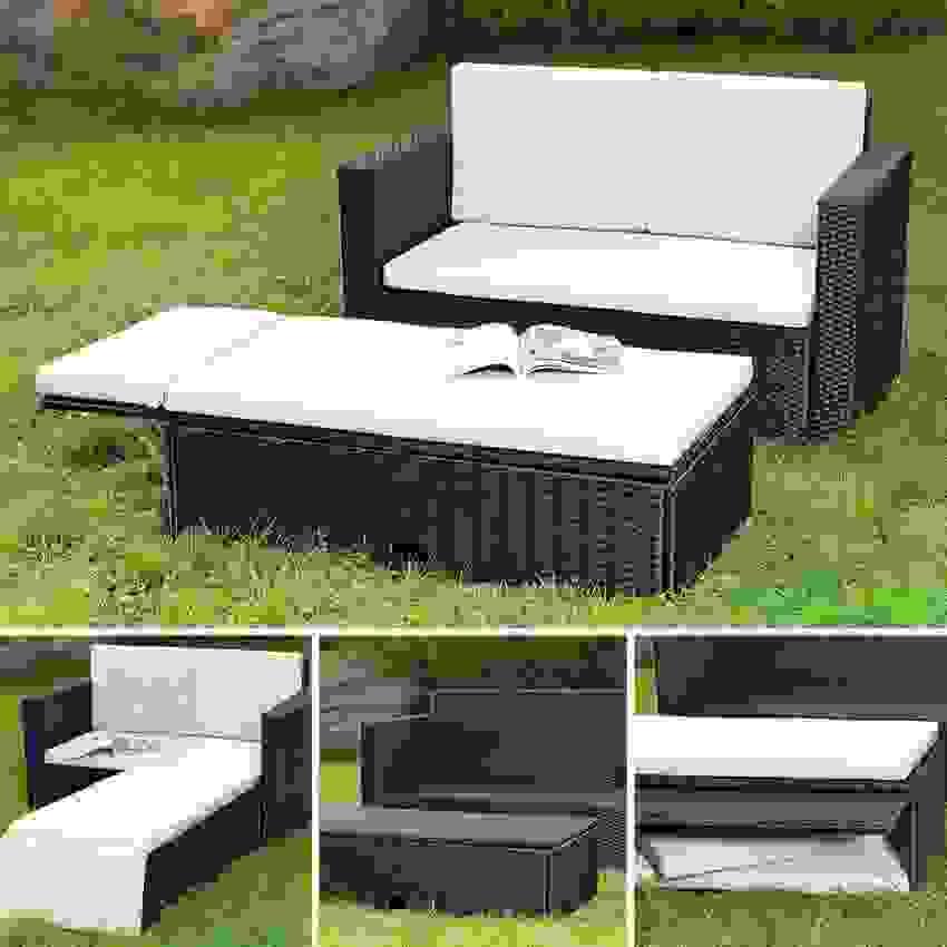 2 Teiliges Polyrattan Lounge Möbel Set Jetzt Reduziert Ist Frisch von Lounge Möbel Kleiner Balkon Bild