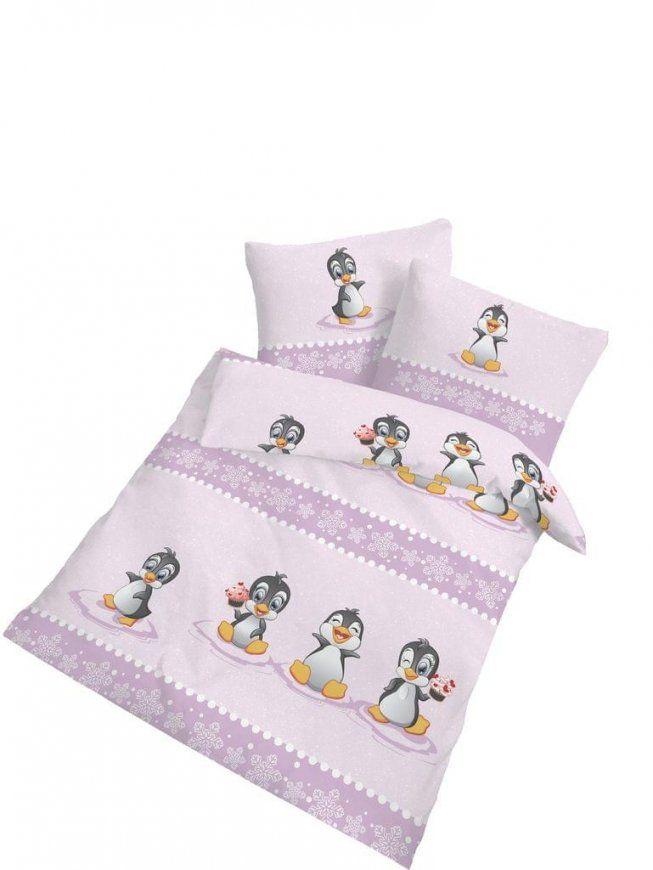 2 Tlg Kinder Baby Bettwäsche 100X135 Cm Pinguin  Real von Bettwäsche Biber 100X135 Photo