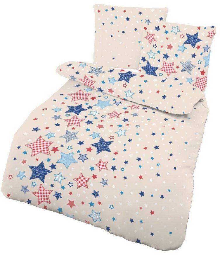 2 Tlg Kinder Baby Bettwäsche 100X135 Cm Sterne  Real von Kinderbettwäsche Biber 100X135 Photo