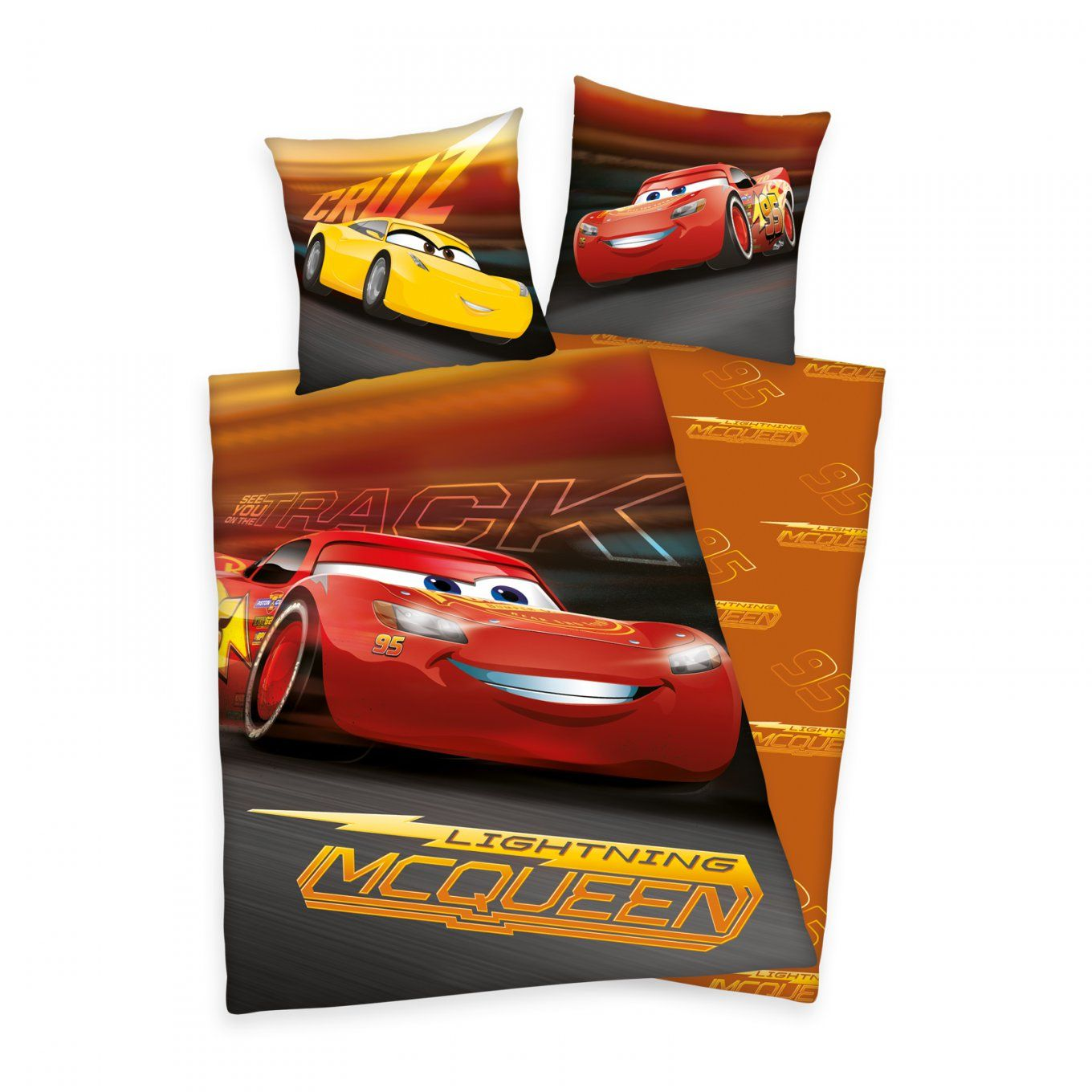 2 Tlg Renforce Kinder Bettwäsche 135X200 Cm Disney's Cars 3 von Bettwäsche Cars 135X200 Photo