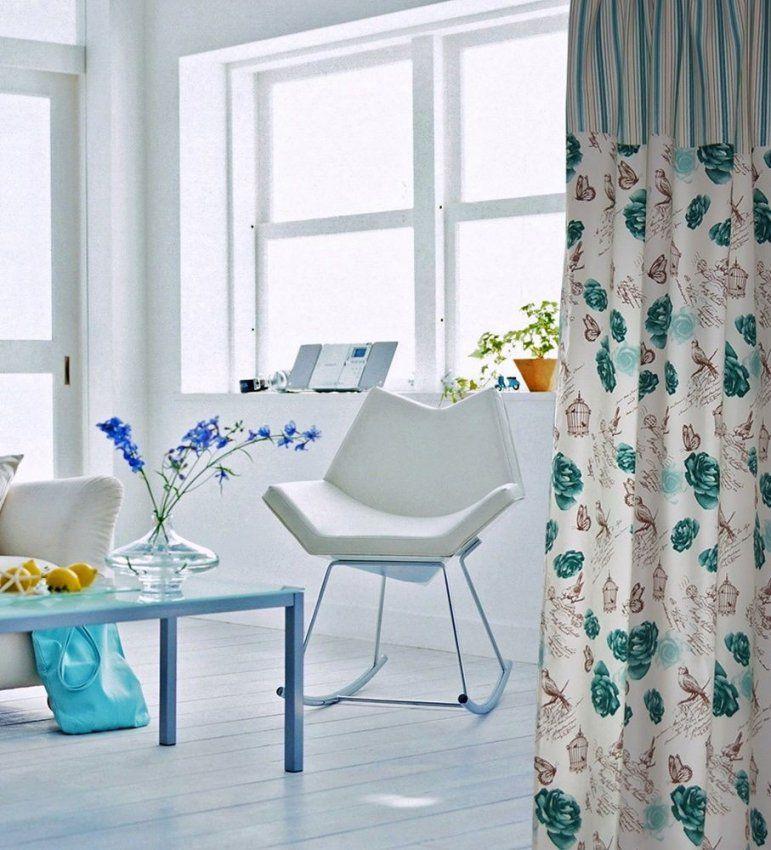 2 X Vorhang Rosenstoff Schal Weiß Braun Türkis Vintage Streifen von Gardinen Weiß Türkis Bild