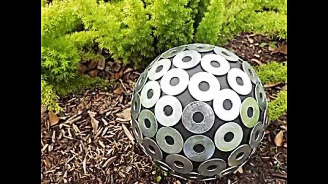 20 Sommerliche Garten Deko Ideen Mit Bowlingkuggeln Zum Selbermachen von Dekoration Garten Selber Machen Bild